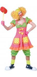 Déguisement Clown Fluo femme