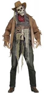Déguisement Cowboy Wanted Zombie adulte Halloween taille unique