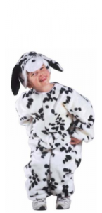 Déguisement de dalmatien peluche enfant