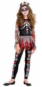 Déguisement de squelette  fille adolescente Halloween