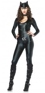 Déguisement Féline Combinaison latex noir sexy