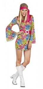 Déguisement hippie femme multicolore