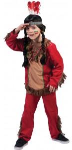 Déguisement indien Hawk rouge garçon