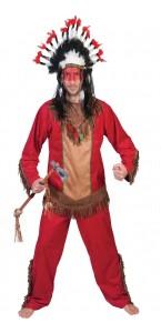 Déguisement indien Hawk rouge homme