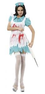 Déguisement infirmière sanglante halloween pour femme taille M