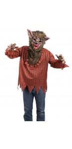Déguisement Loup garou marron Halloween taille unique