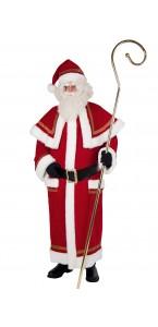 Déguisement manteau de Père Noël luxe brodé