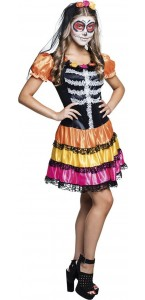 Déguisement Nina Pelona day of the dead Halloween adolescente
