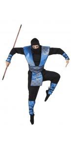 Déguisement Ninja homme bleu