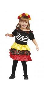 Déguisement Pequena Catrina  Halloween 3/ 4 ans
