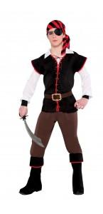 Déguisement Pirate Adolescent noir