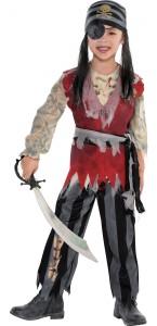 Déguisement Pirate fantôme Halloween adolescent