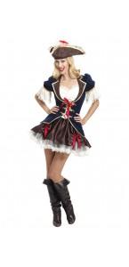 Déguisement Pirate femme marron