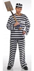 Déguisement Prisonnier homme noir