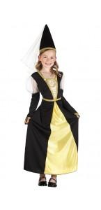 Déguisement reine du Moyen-âge lady isolde fille