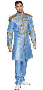 Déguisement Sergent pepper pop bleu homme