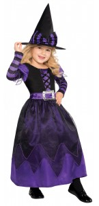 Déguisement Sorcière noir et violet Halloween 4/6ans
