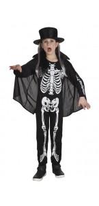 Déguisement Squelette garçon avec cape Halloween