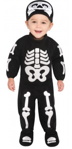 Déguisement Squelette Halloween 6/12 mois