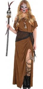 Déguisement Vaudou Witch Doctor Halloween femme