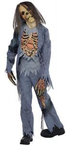 Déguisement Zombie chemise avec relief Halloween garçon