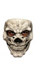 Demi masque Skull blanc Halloween