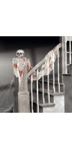 Drap de gaze blanc ensanglanté Halloween 47,7 cm x 2,40 m