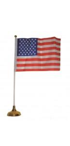 Drapeau USA avec hampe + ventouse 33 cm