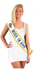 Echarpe Miss 18 ans Bleue
