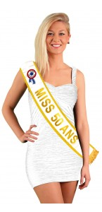 Echarpe Miss 50 ans Or