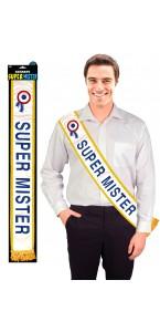 Echarpe Super Mister bleue