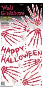Empreintes de squelettes de mains Halloween 60,3 x 31 cm