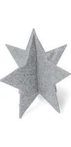Etoile polystyrène argent à assembler 15 cm