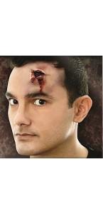 Fausse Cicatrice impact de balle Halloween