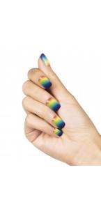 Faux-ongles adhésifs Rainbow