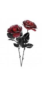 Fleur noire/rouge Halloween