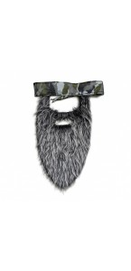 Fausse barbe grise avec bandana Halloween