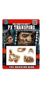 Fausse Cicatrice de zombie 3D Halloween