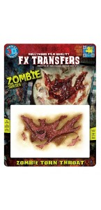 Fausse Cicatrice gorge arrachée de zombie 3D Halloween
