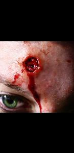 Fausse Cicatrice impact de balle 3D Halloween