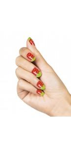 Faux-ongles adhésifs fraise