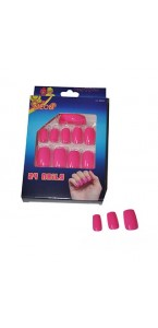 Faux-ongles rose fluo