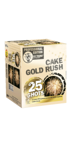 Feu d'artifice Cake gold rush 25 coups