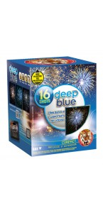Feu d'artifice compact Deep blue 16 coups