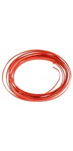 Fil aluminium plat rouge 4 mm x 5 m