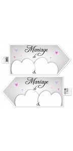 Flèche signalétique mariage