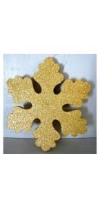 Flocon polystyrène or à assembler 15 cm