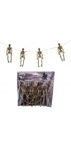Guirlande avec squelette Halloween 80 cm