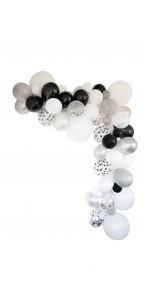 Guirlande de ballons organique 50 ballons argent