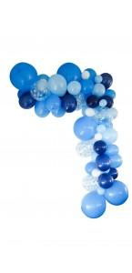 Guirlande de ballons organique 50 ballons bleue